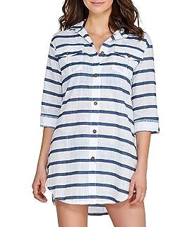 423b1ac080 Dotti Women s Cottons Shirt Dress Swim Cover up at Amazon Women s ...