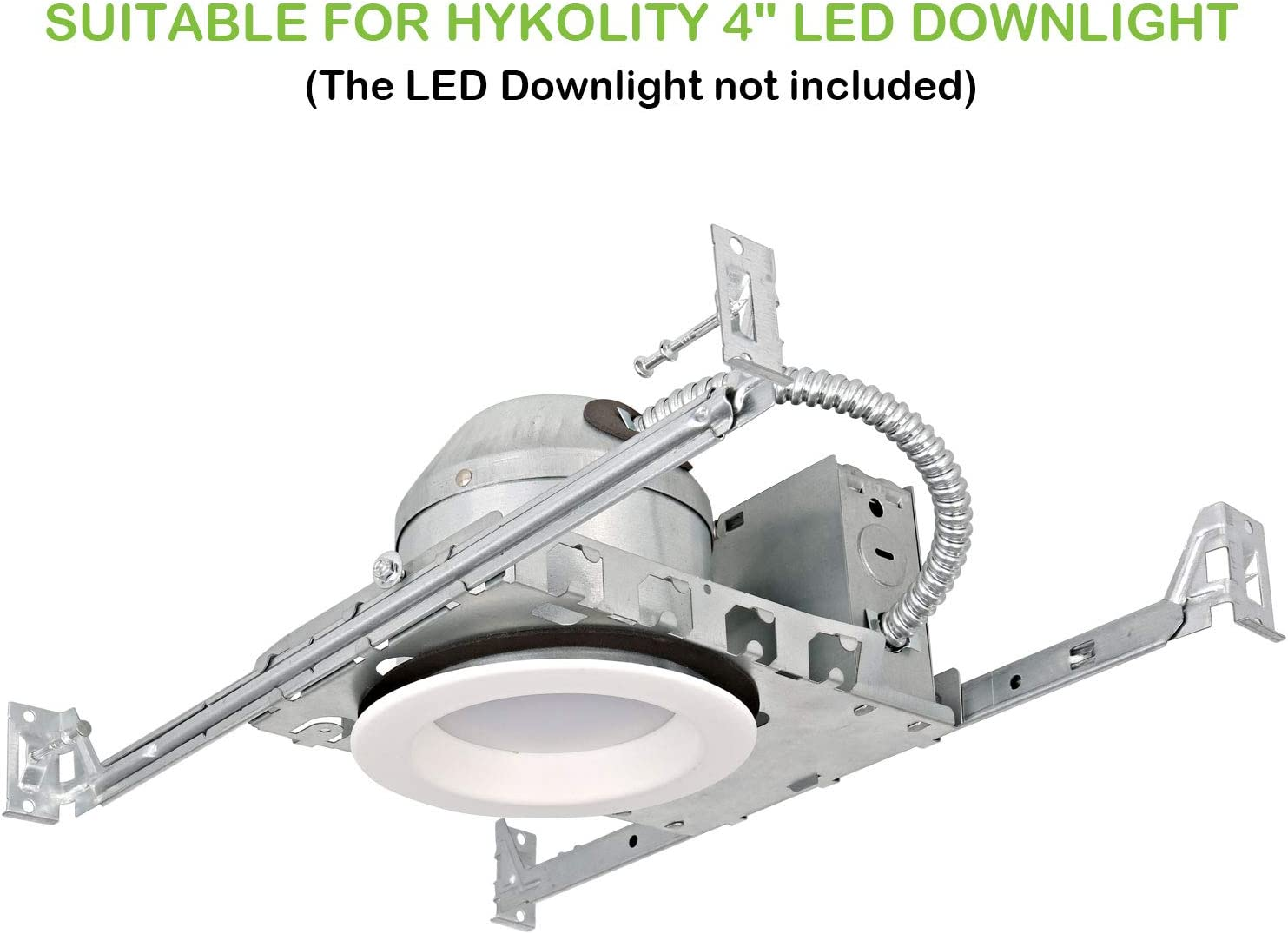 Hykolity 4 Inch New Construction Recessed Light Can Housing 12 Pack Shallow Type Airtight IC Housing with TP24 Connector for LED Downlight Retrofit Kit,ETL Listed