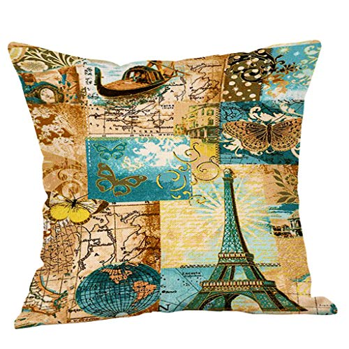 AOJIAN Home Decor Cushion Cover, Vintage Style Decorative Throw Pillow Covers Protectors Bolster Case Pillowslip