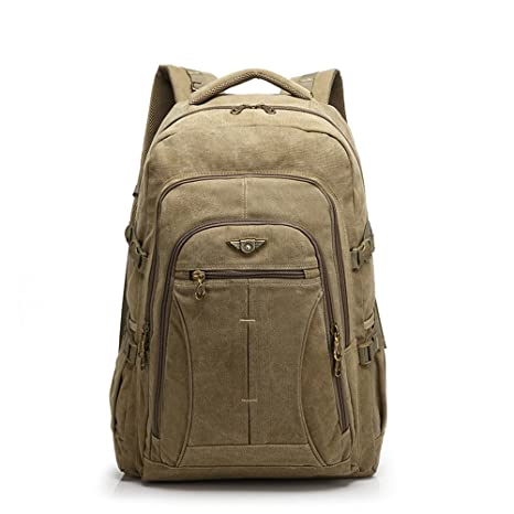 a382de7a342a YUPINXUAN 40 Liter Large Capacity Canvas Backpacks for Men Oversized Travel  Daypacks Multifunctional Rucksacks