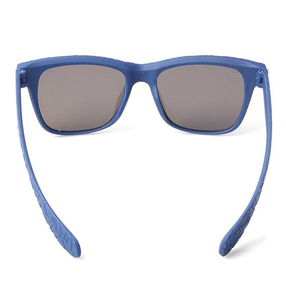 Accessoryo - bleu unisexe gaufré cadre wayfarer avec verres de lunettes de soleil revo 1gBtejh
