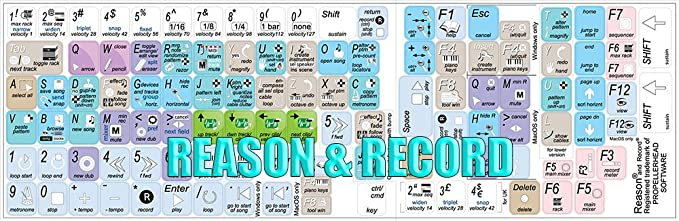 PROPELLERHEAD RECORD /& REASON KEYBOARD STICKER