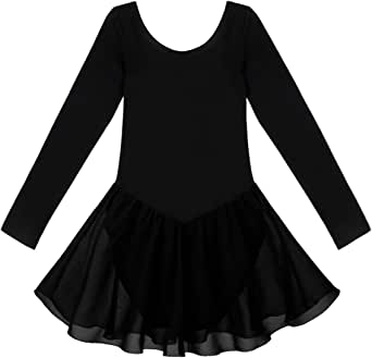 iiniim Big Girls' Long Sleeve Gymnastics Ballet Leotard Dance Dress