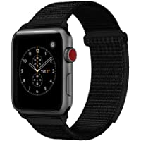 cae610e2ce5 For Apple Watch Band 38mm 42mm Soft Nylon Watch Sport Loop Band Adjustable  Closure Wrist Strap