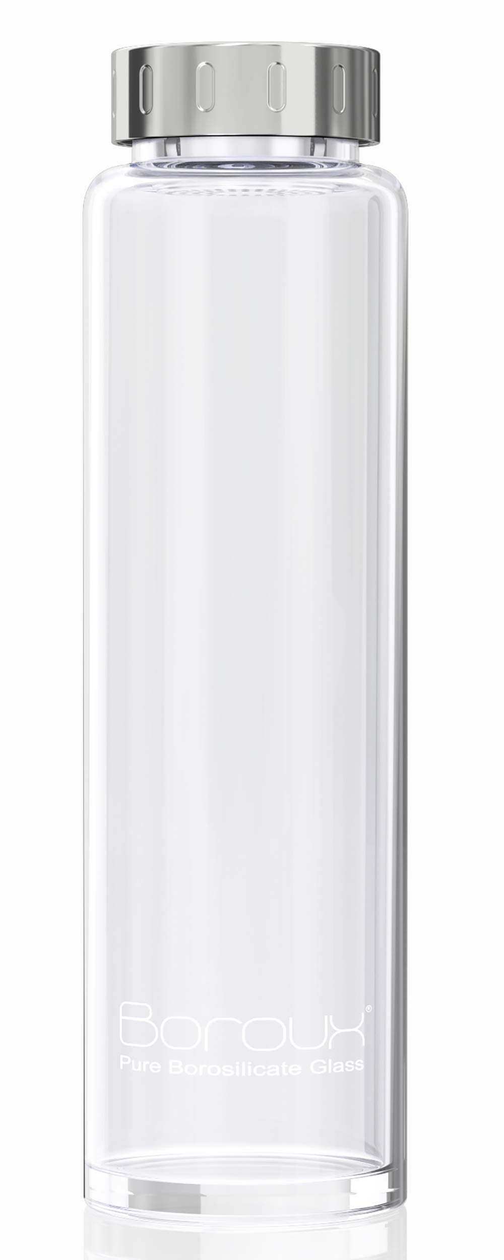 Boroux Original Glass Water Bottle 1 Liter, Handmade from Eco Friendly, BPA Free, Pure Borosilicate Glass (1 Liter)