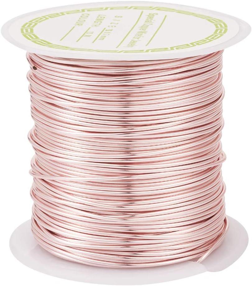 plata PandaHall Alambre de cobre para joyer/ía 0.5mm