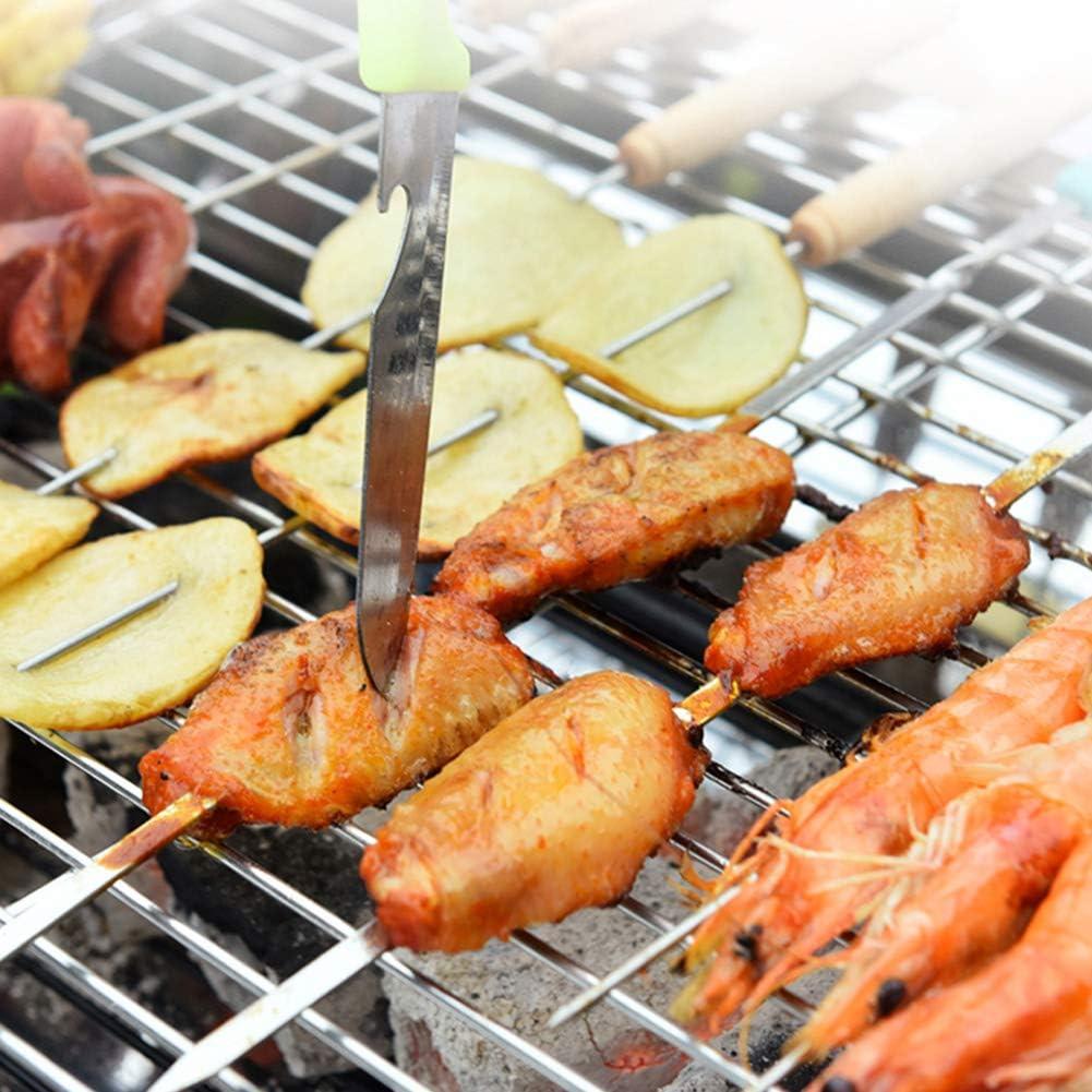 MENG Barbecue Portatif Au Charbon De Bois en Acier Inoxydable pour Les Pique-Niques sur Les Terrasses Et Les Jardins, Les Pique-Niques en Plein Air, Le Camp,B1 A1