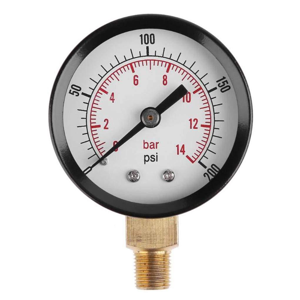 Yiruy 50mm Misuratore di Pressione dell'Acqua Filo di Montaggio Manometro Olio Manometro Compressore d'Aria Tester 0-4bar 0-60psi BSPT