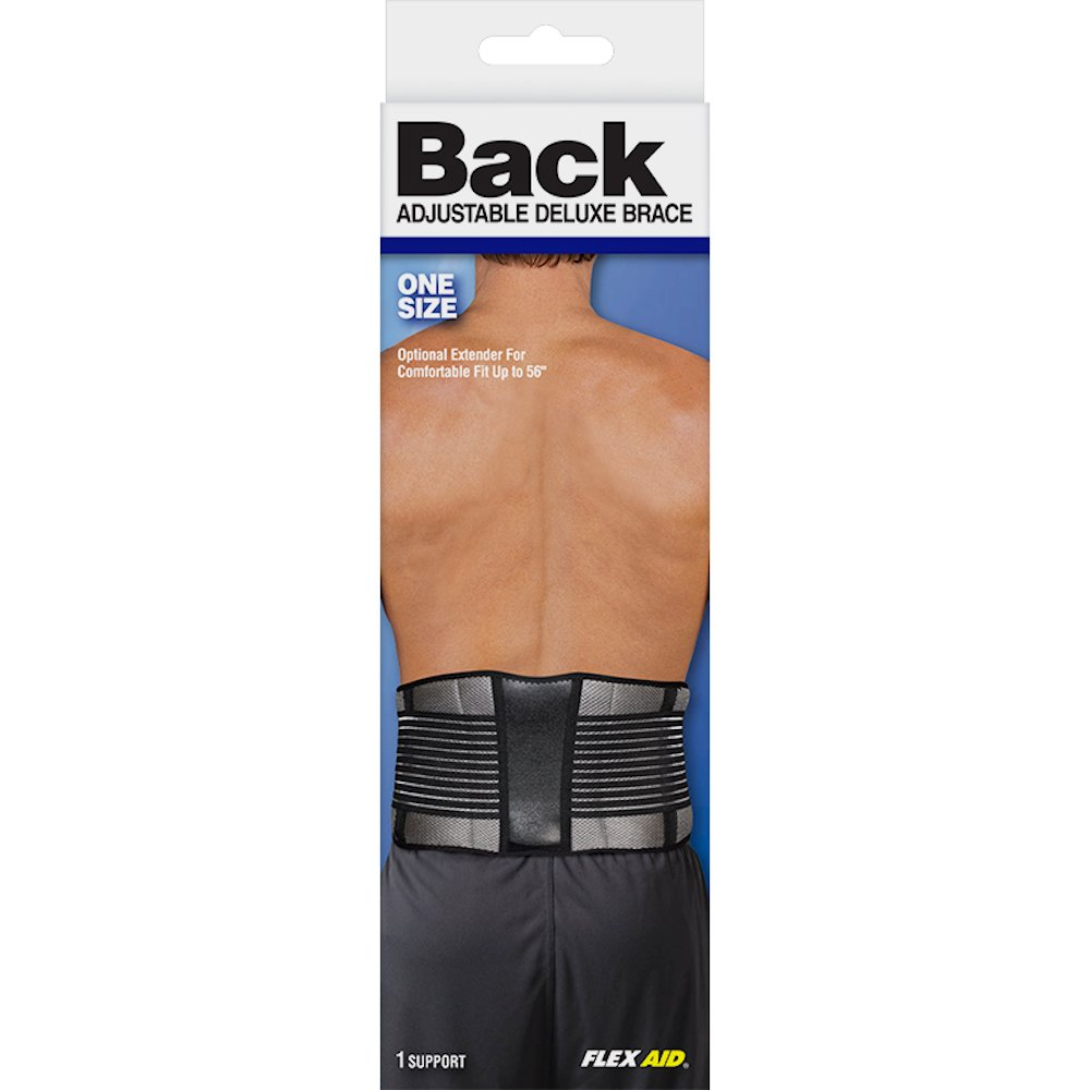 Flex Aid Back Brace Deluxe Support