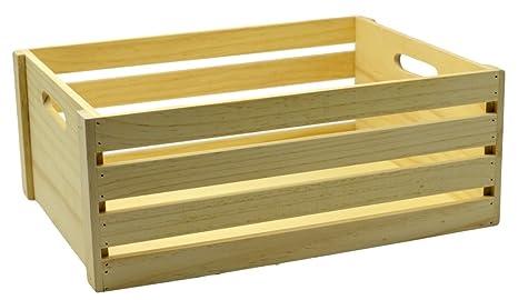 Legno Naturale Chiaro : Savino filippo srl cassetta contenitore rettangolare in legno