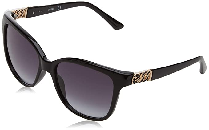 b199dabbf97 Image Unavailable. Image not available for. Colour  GUESS Women s Acetate  Square Soft Cat-Eye Sunglasses ...