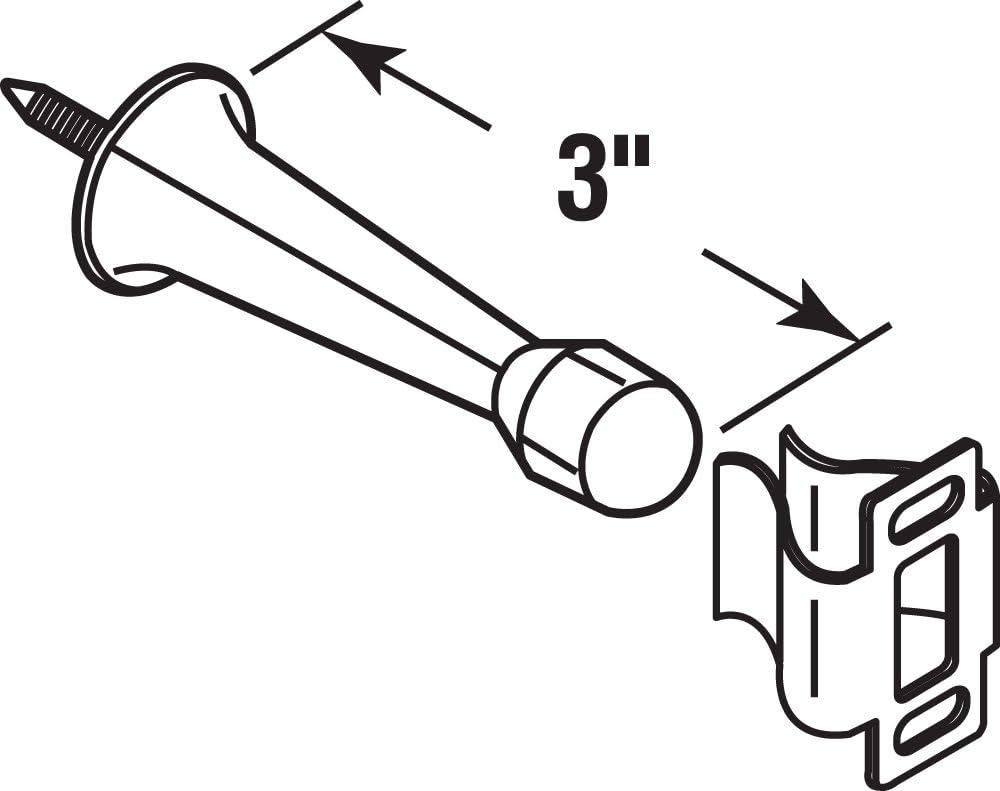 National Hardware  Rubber  Door Stop Tip Kit Set  White