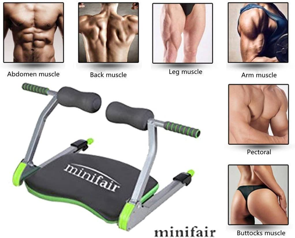 minifair Home Gym Machine Body Ab Workout Fitness Exercise System wonder core