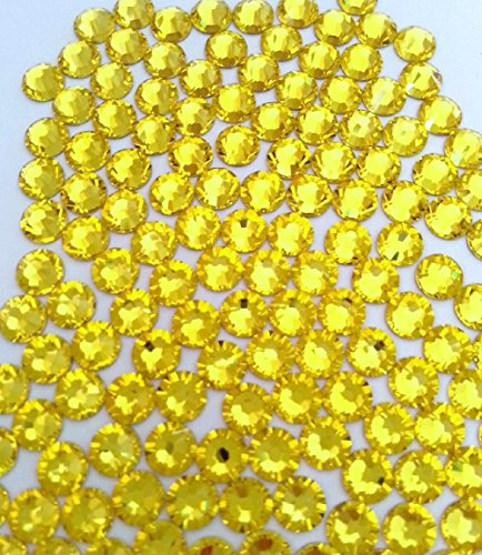 12ss Hot Fix (HOTFIX Citrine Yellow Crystal Rhinestones Flatback 144 SWAROVSKI 3.2mm 12ss ss12)