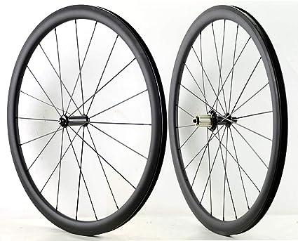 FANTECY Sprint - Ruedas de Carbono superligeras para Escalada de 38 mm de Profundidad y 25 mm ...