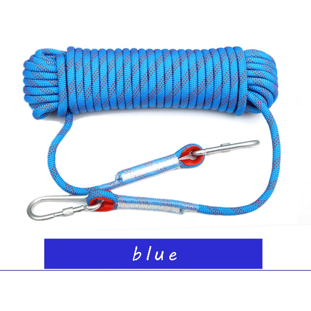 MLM clbrp Outdoor Climbing Rope, Extreme ice Climbing Rope, Outdoor Camping Safety Rope Lifeline Spider-Man Safety Rope, a Variety of Colors Available red (Color : Blue, Size : 50m) by MLM clbrp
