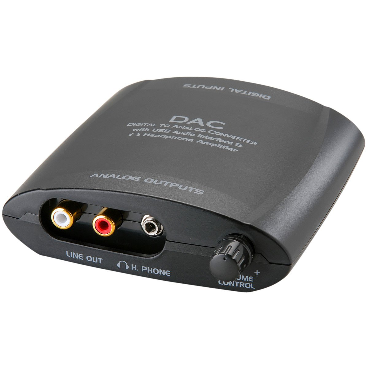 Parts Express DAC Digital to Analog Audio Converter Optical/Coaxial/USB
