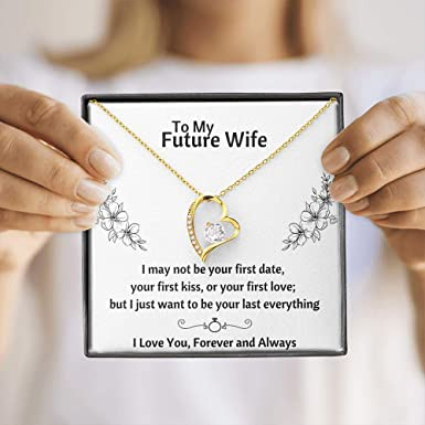 Fianc\u00e9 Love Wedding Day Valentine/'s Day Gift For Future Wife Husband Birthday Jewelry Gift For Women Boyfriend Girlfriend Gift Necklace