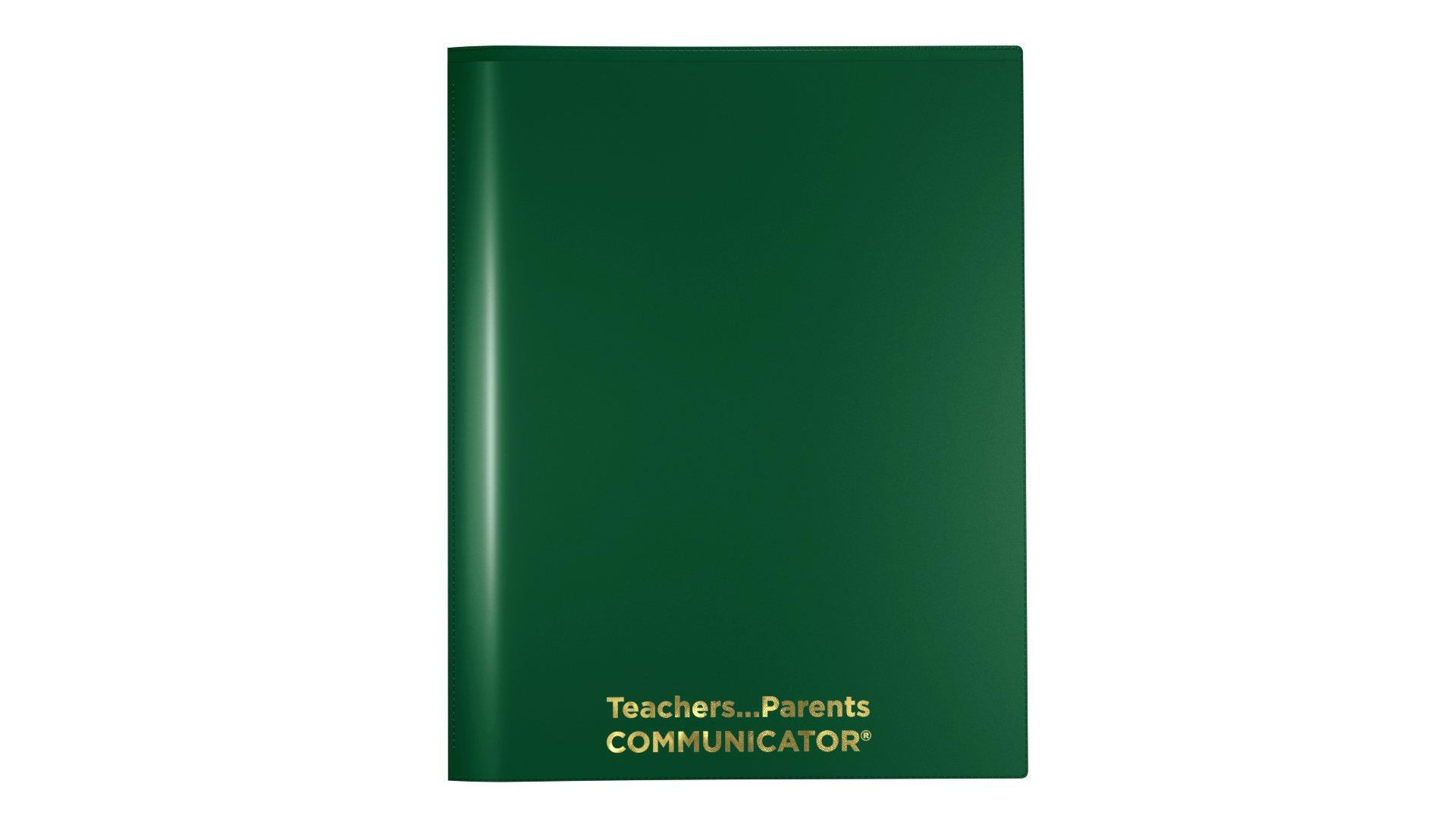 Nicky's Communicator Folder (Pack of 50), Flexible Plastic Folder for Letter Size Papers (Green) by Nicky's