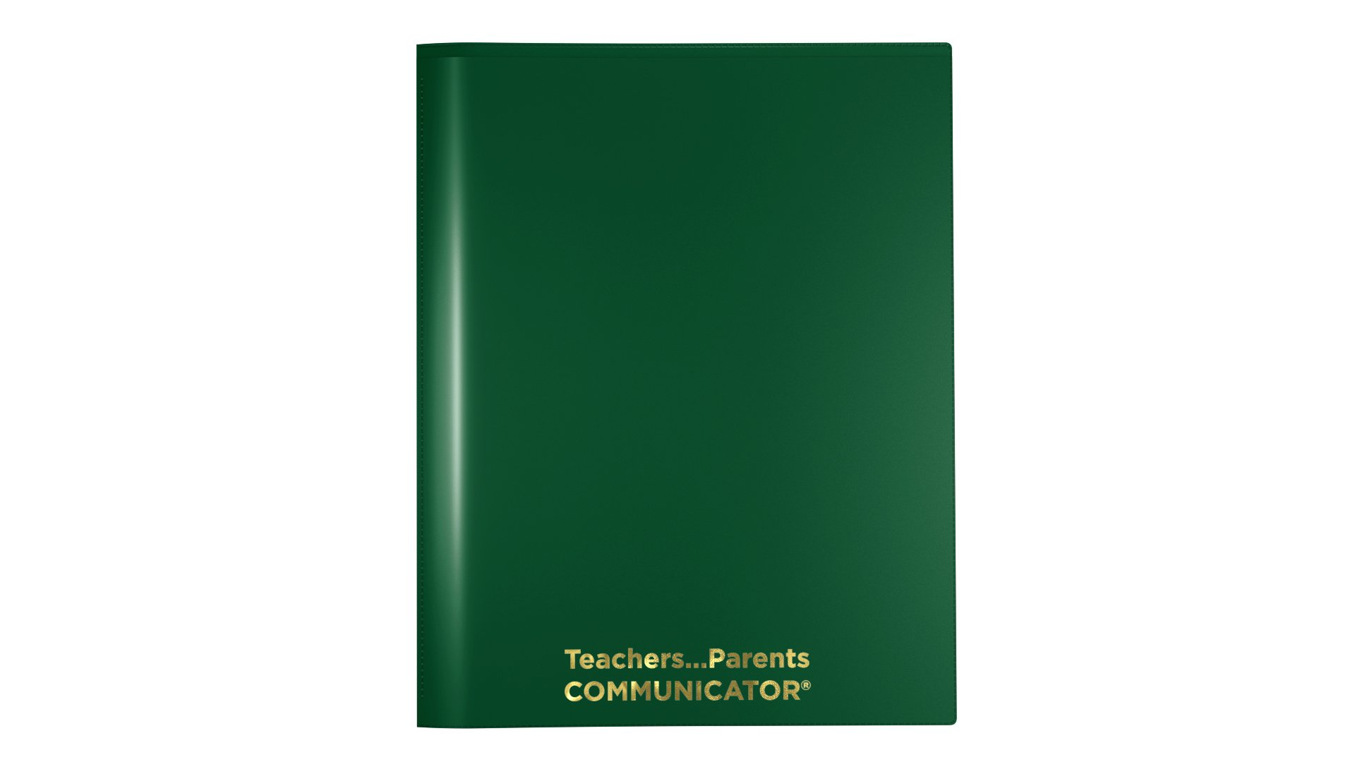 Nicky's Communicator Folder (Pack of 50), Flexible Plastic Folder for Letter Size Papers (Green)