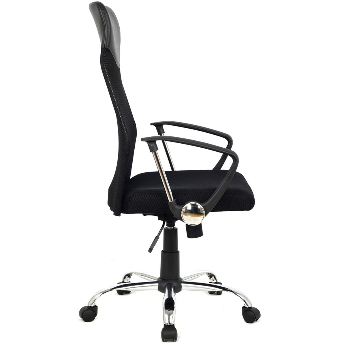 Modern Furniture 8074-BK High-Back Swivel Ergonomic Mesh/PVC Seat Desk Task Computer Swivel Lumbar Support Executive Office Chair with Seat Height Adjustment by mck (Image #3)