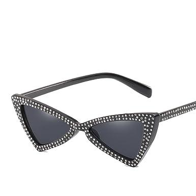 Amazon.com: Gafas de sol triangulares con diseño de lazo de ...