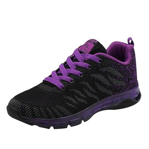ahorre hasta 80% bien conocido salida de fábrica BBestseller-Zapatos Zapatillas Planas para Mujer Casuales Cabeza Sandalias  para Mujer Zapatos con Cordones Zapatos Deportivos Sneakers Running Zapatos