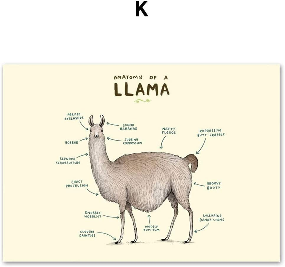 Sheep Alpaca Lamb Canvas Poster Art Print Kid Children Home Living Room Decor
