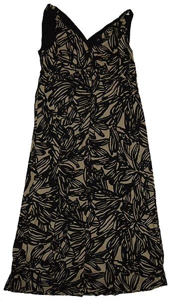 2def24b069c GAP Maternity Black Beige Print V-Neck Woven Maxi Sun Dress 6 at ...