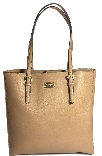 0649dfe09 Michael Kors Saffiano Leather Dark Khaki Jet Set Tote Shopper Hand Bag ( Medium, Dark