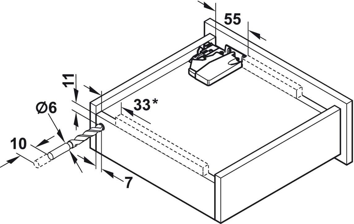 Ausz/üge f/ür Holz-Schubk/ästen Blum Tandem 566H4500B Gedotec Schubladenschiene Vollauszug 450 mm mit Blumotion D/ämpfung Soft-Closing Schubladen-Auszug inkl 1 Paar Tragkraft: 50 kg Kupplungen