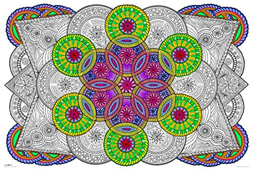 Mandala Challenge - Giant Wall Size Coloring Poster - 32.5