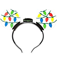 Disney Parks Mickey Mouse Holiday Animated Glow Light-up Ears Headband