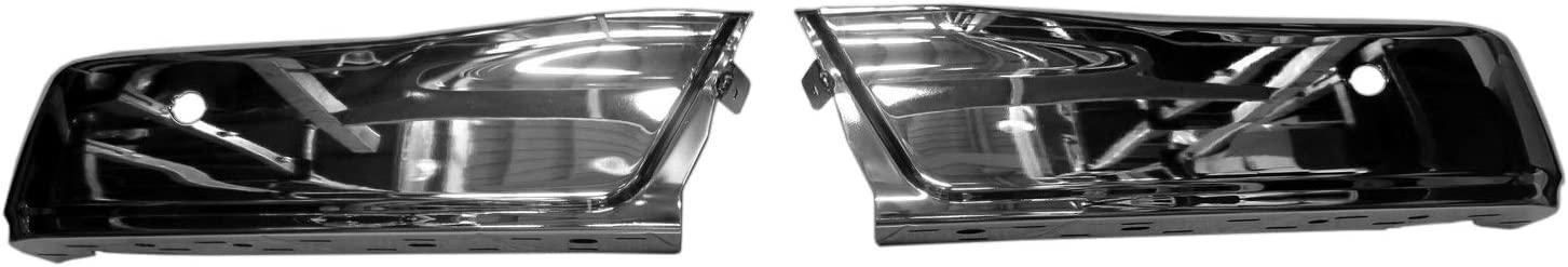; Chrome; With Park Assist Sensor Holes; Made Of Steel; 2015-2018 Ford F150 Rear Bumper Face Bar Partslink FO1102381 2-Pc Left And Right Fo