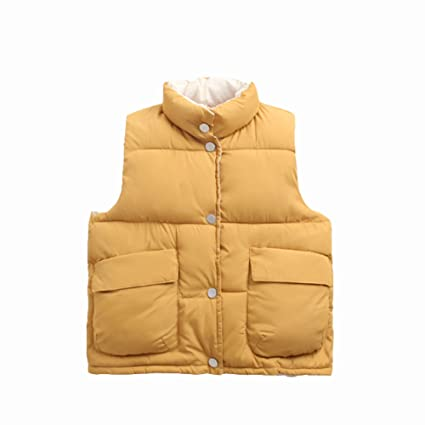 d63e58a14 Amazon.com   NOMSOCR Toddler Baby Boys Girls Solid Color Waistcoat ...