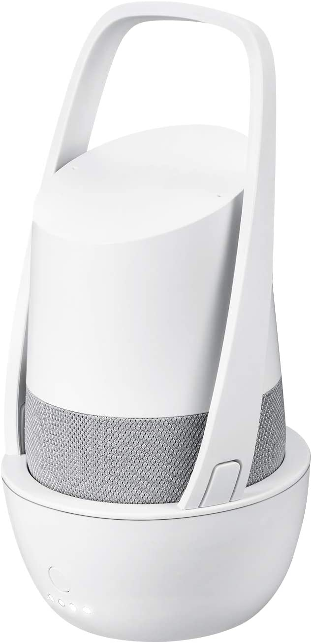 Rechargeable Battery Base for Google Home - 10000mAh Portable Charger by Wasserstein (White)