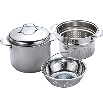 Amazon Momscook 8 Quart Classic Stainless Steel Covered