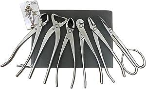 vouiu 6-Piece Bonsai Tool Set,Knob Cutter,Trunk Splitter,Concave Cutter,Wire Cutter,Jin Pliers,Bonsai Scissors