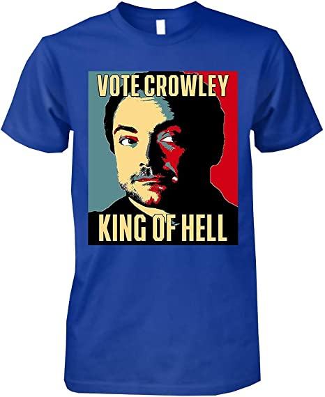 Supernatural CROWLEY HELL TO RAISE Girls Women/'s T-Shirt NEW Licensed /& Official