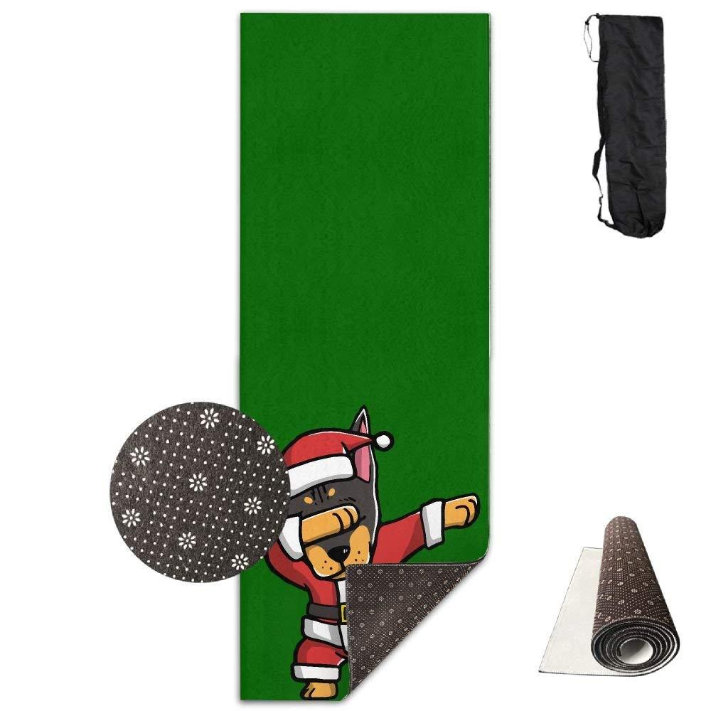 Dabbing Doberman Pinscher Ugly Christmas Yoga Mat Towel for Bikram Hot Yoga, Yoga and Pilates, Paddle Board Yoga, Sports, Exercise, Fitness Towel