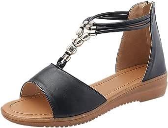 DENER Women Ladies Wedge Sandals, Low Heels Platform Wide
