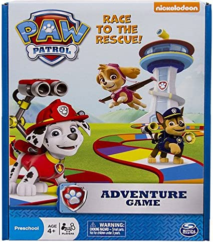 Amazon Com Spin Master Games Nickelodeon Paw Patrol Adventure Board Game Toys Games