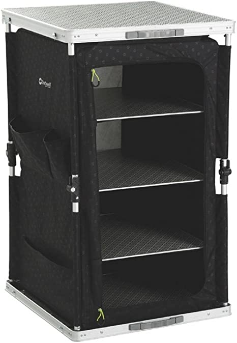 Pñegable armario con dos estantes para camping tiendas outdoor caravanas