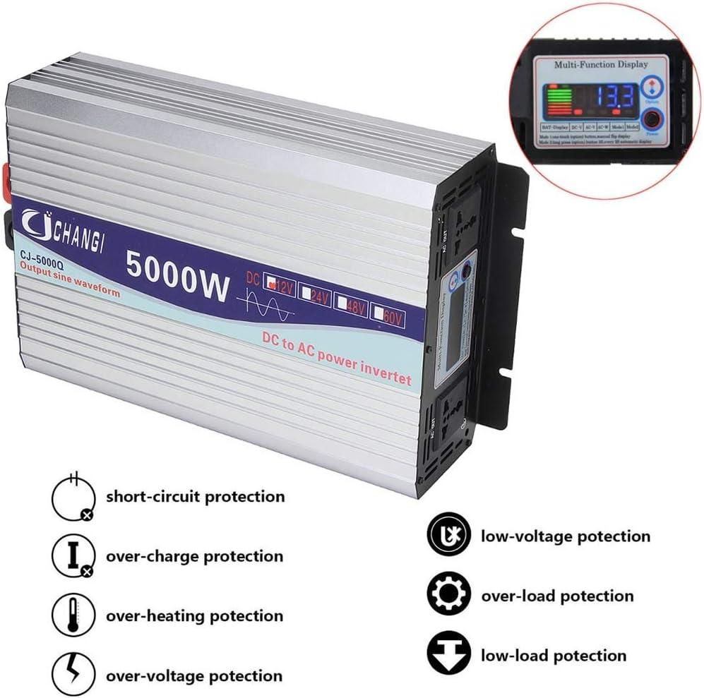 Pantalla Inteligente de onda sinusoidal pura inversor de la energ/ía de 12V 6000W adaptador convertidor 24V de la pantalla LCD for 220V 3000W Voltage : 1000W , Watts : 12V 5000W 4000W