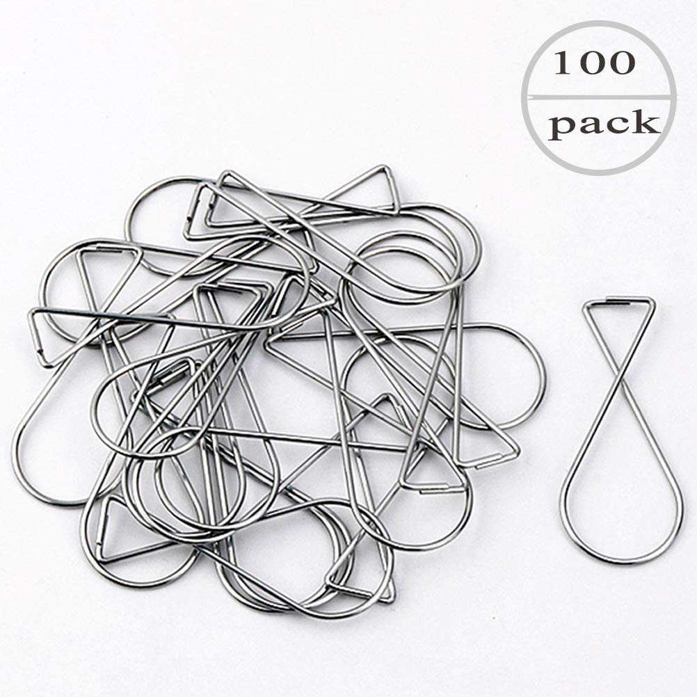 [100Pack] Ceiling Hook Clips,T-Bar Squeeze Hangers Clips Drop Ceiling Clips for Office, Classroom, Home and Wedding Decoration