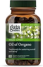 Gaia Herbs Oil of Oregano, Vegan Liquid Capsules, 120 Count - Immune and Intestinal Support for Healthy Digestive Flora