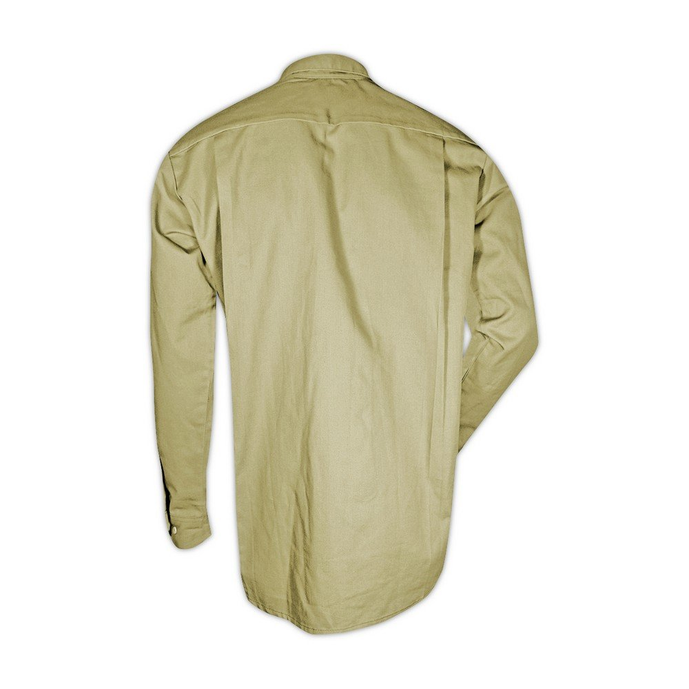 Magid Glove & Safety SBK70DHM Magid Dual-Hazard 7.0 oz. FR 88/12 Work Shirts, 30x32, Denim Khaki , Medium by Magid Glove & Safety (Image #1)