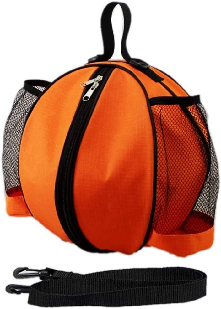 Bolso Mano Bolso de Baloncesto JZK Bolsa Baloncesto Bandolera para Baloncesto Voleibol f/útbol con Bolsillos Laterales de Red para Botella de Agua Negra
