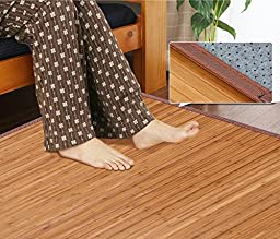 Yaheetech Durable Natural Bamboo Brown Bamboo Area Rug Carpet 4\' x 6