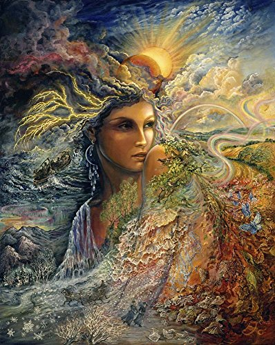 Spirit of The Elements by Josephine Wall Art Print, 10 x 12 inches